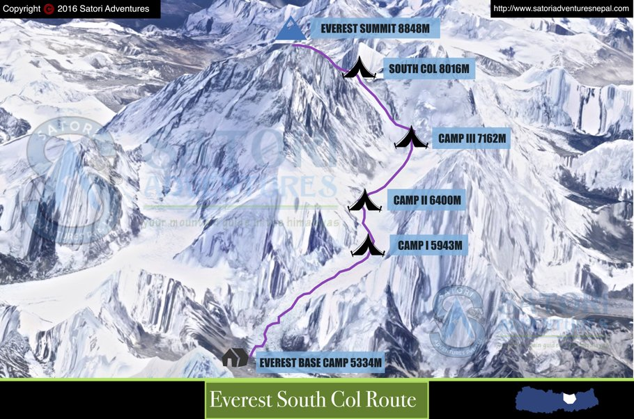 21everest south col route map