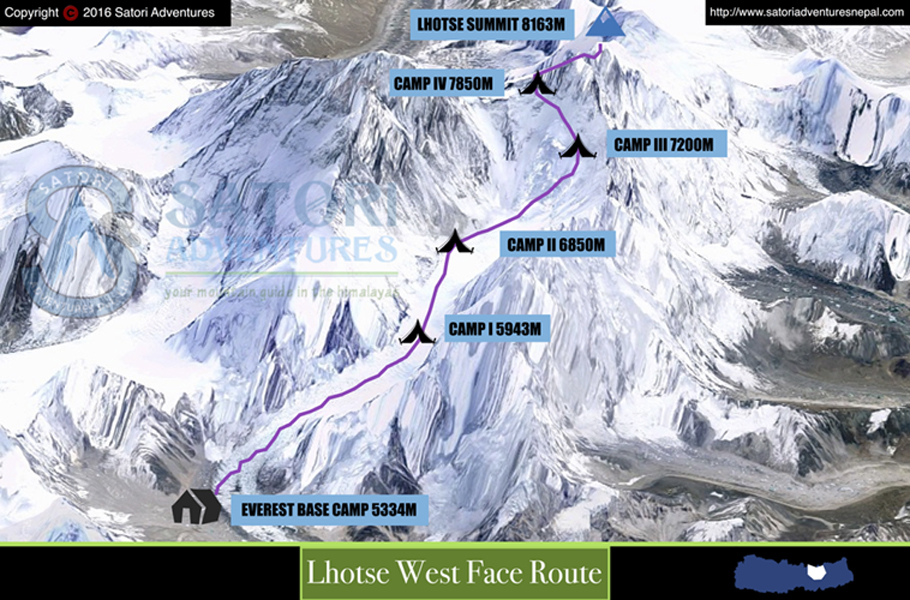22lhotse west face route