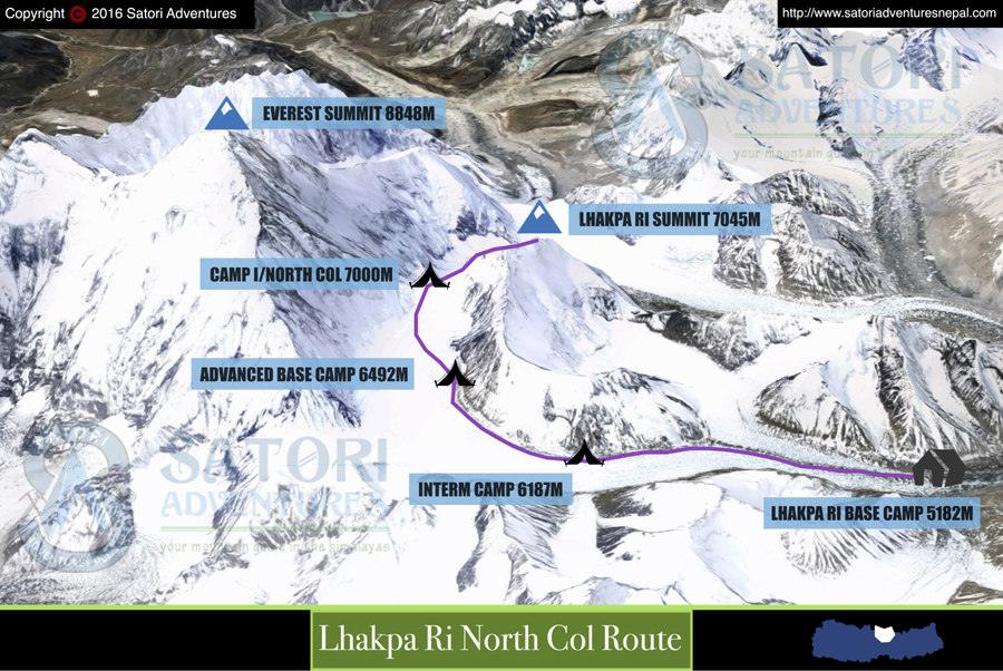38lhakpa ri north col route