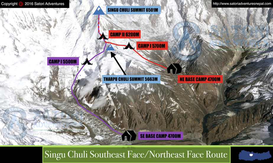 61singu chuli southeast face_northeast face1