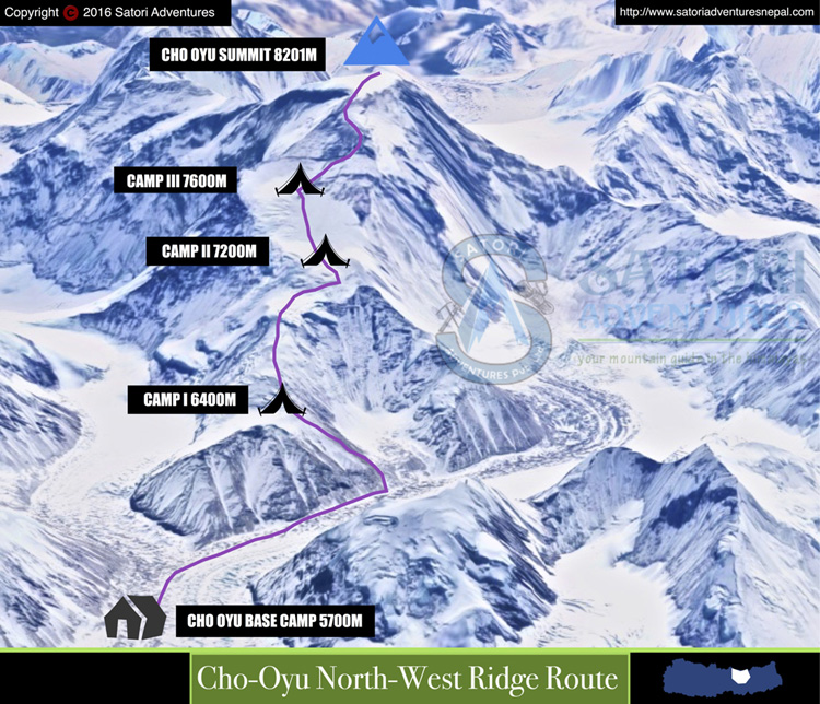 65cho oyu northwest ridge rou
