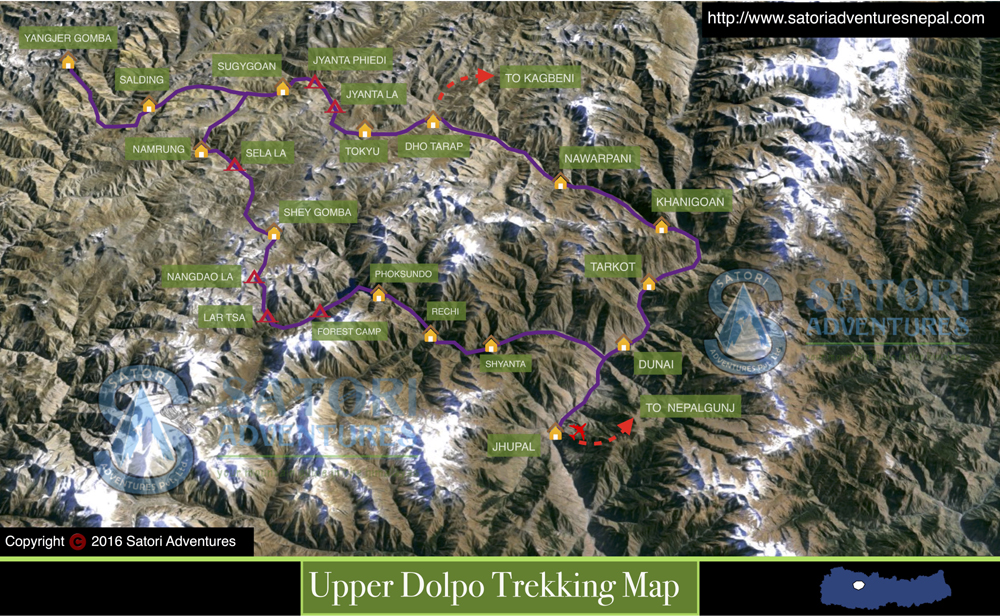 68upper dolpo trekking map