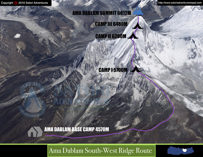 91ama dablam route map 1