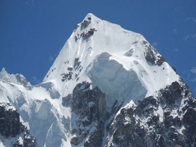 Snowy capped peak of Boktoh peak