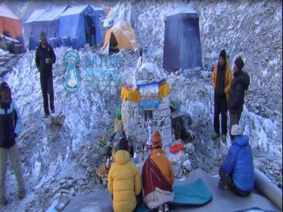 Khumbu Ice fall Base camp in Everest Nepal