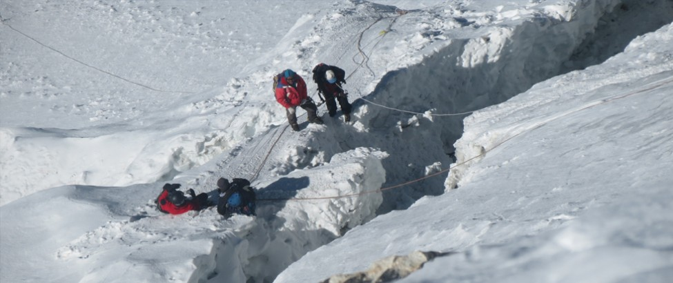New Crabases(ice fall) at Island peak