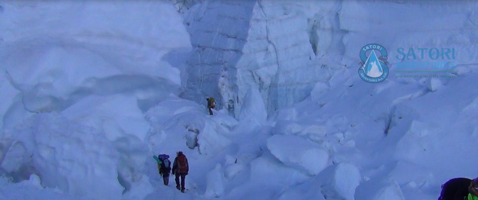 Khumbu Ice fall climbing in Everest
