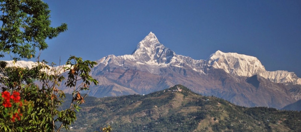 View of Mt. Fishtail from Pokhara