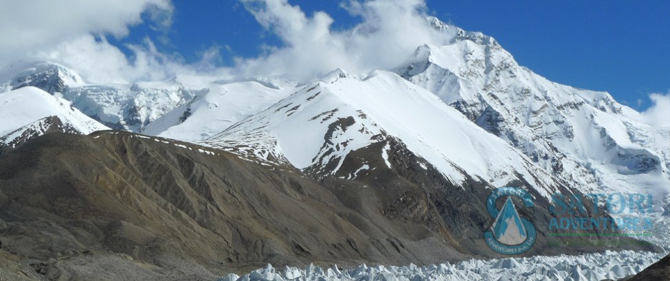 View of Shishapangma Central summit from Middle camp
