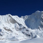 View of Baruntse summit from Base camp
