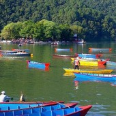 View of Fewa lake Pokhara
