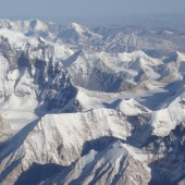 Enormous sight of Himalaya from Everest summit