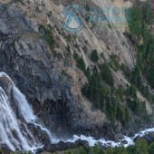 Waterfall  at trekking trail in  Himalayas